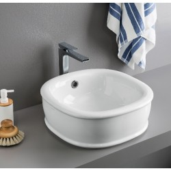کاسه روشویی روکار Art.Ceram | Azuly Countertop Washbasin 45x45